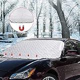 SanGlory Frontscheibenabdeckung Scheibenabdeckung Auto Frostabdeckung Magnet Fixierung Windschutzscheibe Abdeckung Perfekte Gegen UV-Strahlung, Schnee, EIS, Frost und Sonne (für SUV)