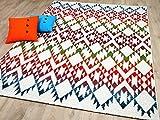 Designer Teppich Funky Ethno Multicolour Bunt in 4 Größen