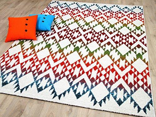 Funky Designer Teppich Ethno Multicolour Bunt in 4 Größen - Funky Designer