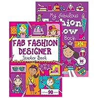 Martello Squiggle Fab Fashion Designer/Fashion Show A4 Sticker Book - 90+ Stickers Design at Random
