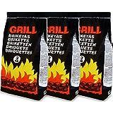 9 Kg Grillbriketts Holzkohle Grillkohle Holzkohlebriketts Holzkohlegrill Grill 3 x 3kg