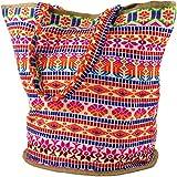 Guru-Shop Handgefertigte Boho Shopper Tragetasche, Strandtasche, Einkaufstasche - Pink,...