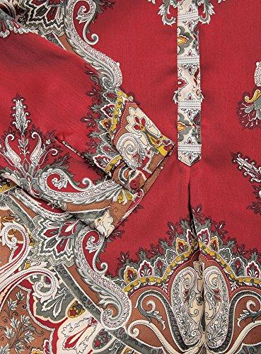 oodji Collection Femme Blouse en Tissu Fluide Imprimé Rouge (4939E)