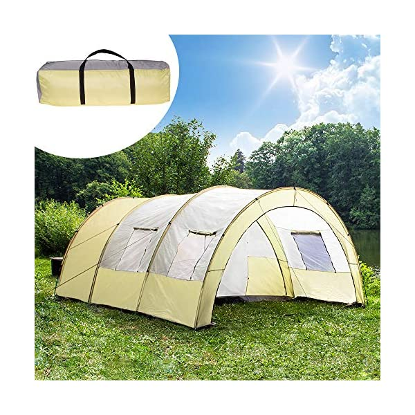 TecTake 800588 XXL Camping Tunnel Tent with Foyer 4-6 persons 4