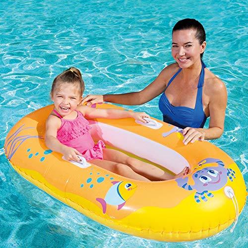 Pool Float Kinder Badeboot, 135 x 89 cm, Orange, Schlauchboot