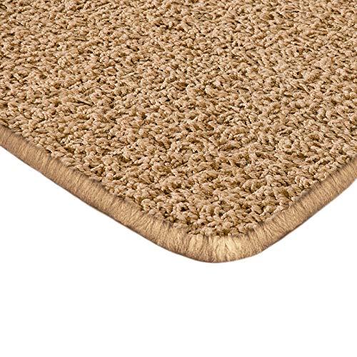 Shag Creme Shag Teppich (Floori Shaggy Hochflor Teppich - 200x290cm - moderner Wohnzimmerteppich - beige)
