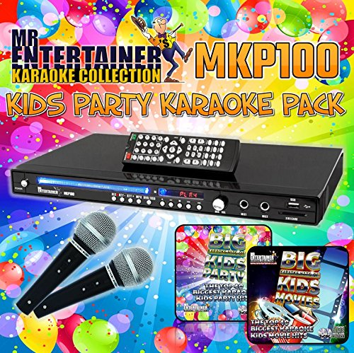 Mr Entertainer MKP100 Kids Childrens Party Package Kinder Kinder Party Paket. CDG DVD MP3G Karaoke Machine Player. Aufnahme Karaoke-Maschine. HDMI/Rip/USB (Kinder Karaoke Maschine Cdg)