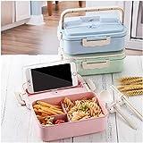 VRTYOC Bento Box, Lunchbox Erwachsene Kinder, Brotdose, Auslaufsichere Brotzeitbox, für Schule/Arbeit/Picknick Reisen
