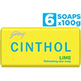 Cinthol Lime Bath Soap – 99.9% Germ Protection, 100g (Pack of 6)