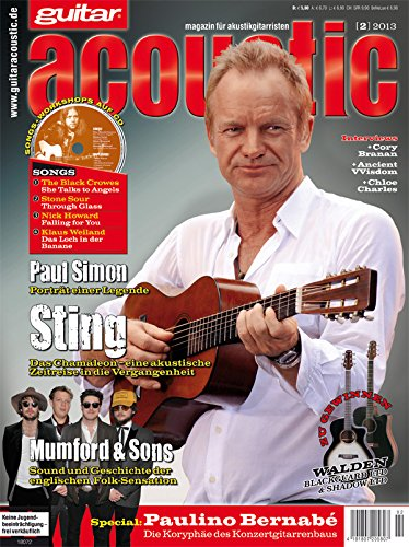 guitar acoustic 2 2013 mit CD - Sting - Interviews - Akustikgitarre Workshops - Akustikgitarre Playalongs - Akustikgitarre Test und Technik - Akustikgitarre Noten