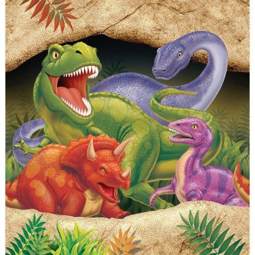 16 Servietten * DINOSAURIER * in der Größe 33x33cm für Kindergeburtstag // 665012 // Kinder Geburtstag Party Dino T-Rex Dinos Saurier Napkin Papierservietten