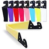 homEdge Mobiltelefonstativ, uppsättning av 9 st universal hopfällbar fickstorlek plast V-formad mobiltelefon skrivbordshållar