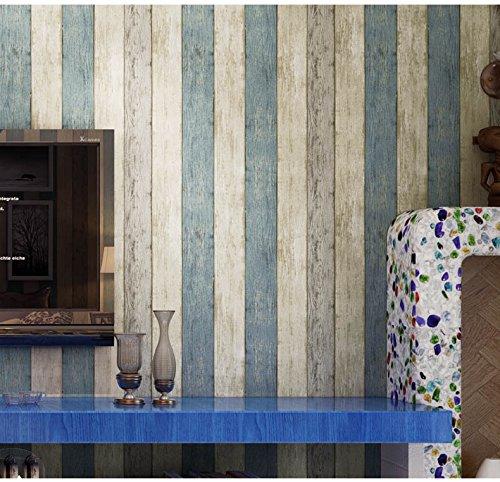 Madera efecto papel pintado soomj Oriental estilo mediterráneo no tej