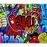 murando - Fototapete 300x210 cm - Vlies Tapete - Moderne Wanddeko - Design Tapete - Wandtapete - Wand Dekoration - Graffiti 10110905-11
