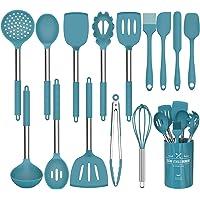 Umite Chef Lot de 15 ustensiles de cuisine en silicone, résistants à la chaleur, anti-adhésifs, sans BPA, poignée en…