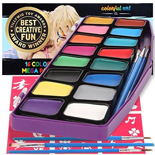 Colorful Art Co Set Pintura facial - Pintura facial infantil premiada -...