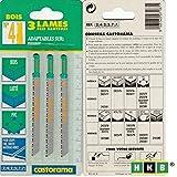 HKB ® 3 Stichsägenblätter No 4, 80mm für Holz, Sperrholz, beschichtetes Holz, PVC, Aufnahme für Peugeot-Geräte, Hersteller Castorama, Artikel-Nr. 242577