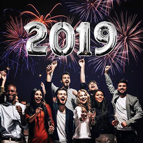 Zahlenballon Heliumballon Folienballon Happy New Year Silvester Neujahr Silvesterparty 2019-silber (Silvester Ideen 2019 Dekoration)