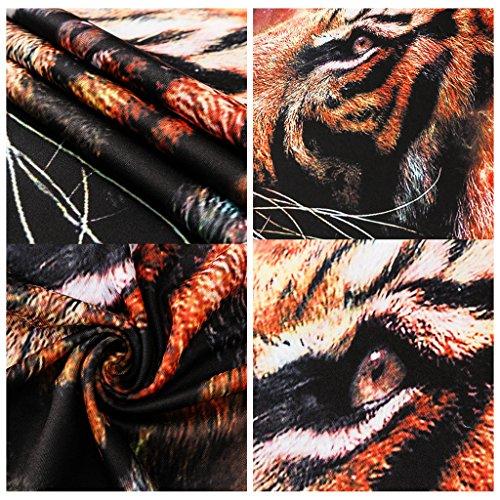 Pizoff Unisex Hip Hop Kurz Schwarz T Shirt mit Ziffer Druckmuster Metall Stern Y1800-18