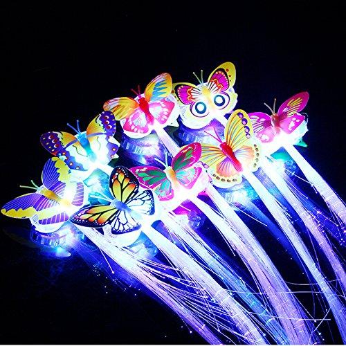 Vovotrade Kreative Kinder Shiny Glowing Schmetterling Flash Bunte Lernspielzeug Halloween Weihnachten Party Spielzeug (Mehrfarbig)