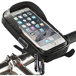 Wheelup - Support de Vélo Imperméable , Montagne Pour Téléphone Avec Sac De Cadre Résistant à l'Eau