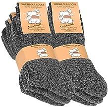 6 pares de gruesa y cálida noruegos calcetines para hombre