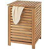 AC-Déco Panier à Linge en Bambou Naturel - 40 x 40 x 58 cm