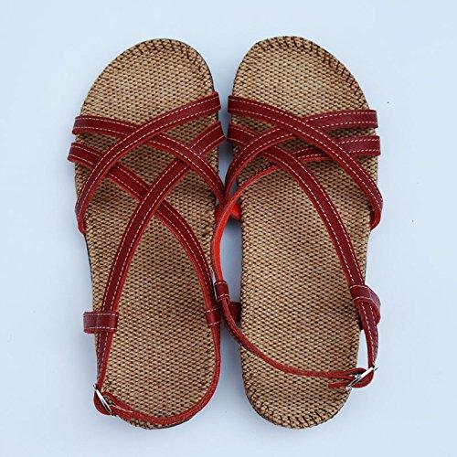 LGK&FA Estate Donna Sandali sandali Biancheria donna sole piazzole di piede Estate Scarpe Donna Q - 35 q - 35