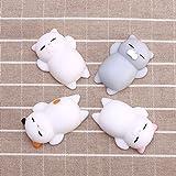 ILOVEDIY 4Pcs Kawaii Squishy Cat Mochi Anti Stress Squishy Slow Rising Toys Squishy Stress Relief Toys