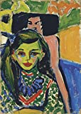 Ernst Ludwig Kirchner - Colourful Portrait - Extra Large - Matte Print