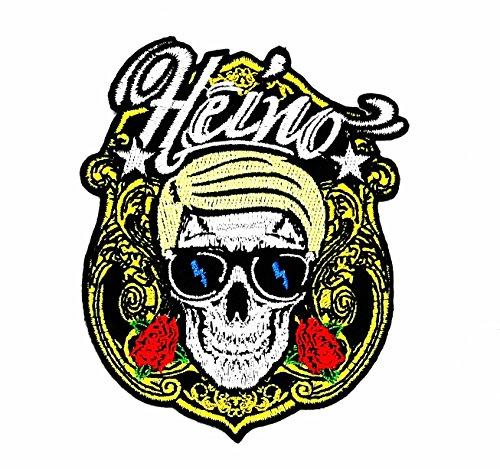 rabana Heino Totenkopf Rocker Rider Motorrad Patch für Heimwerker-Applikation Eisen auf Patch T Shirt Patch Sew Iron on gesticktes Badge Schild Kostüm