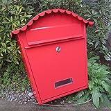 QAR Schmiedeeisen Europäischen Villa Zeitungsbox Kreative Im Freien Wasserdichte Mailbox Druck Mental Mailbox Outdoor Wandbehang Briefkasten