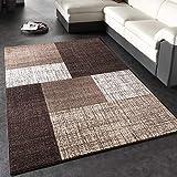 Paco Home Designer Teppich Modern Kariert Kurzflor Teppich Design Meliert In...
