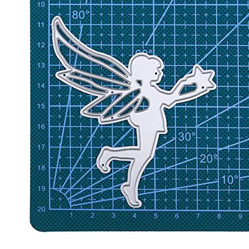 Qinpin Stanzschablone aus Metall, Prägeschablone für DIY Scrapbook Album Papier Karte Basteln Dekoration, Karbonstahl, a, Einheitsgröße