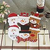 Aomon 6 Stück Tischdekoration Weihnachtsdeko Weihnachtsgeschirr Organisator Besteck Taschen Messer und Gabel Lagerung Taschen Fall