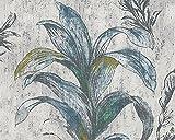 Metropolis by Michalsky Living Vliestapete South Beach Tapete floral 10,05 m x 0,53 m beige grau grün Made in Germany 304561 30456-1