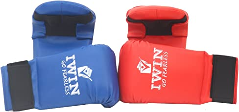 Iwin Karate Gloves Combo Pack Of 2 Pairs- Red & Blue
