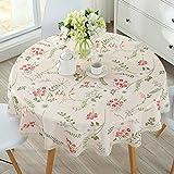 ZHUOBU Tischdecke Runde Tuch Pflanze Blumen Gartentisch Pad wasserdicht Anti-heiß Anti-Öl, 001
