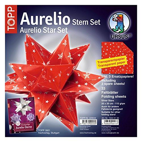 lätter Aurelio Stern, Transparentpapier, Silver Stars, 20 x 20 cm ()