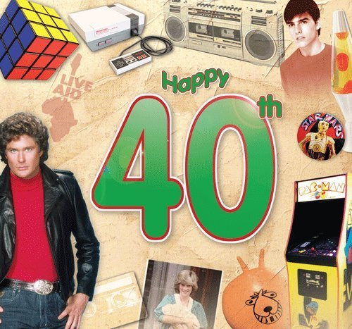 Happy 40th Birthday Card and CD Gift
