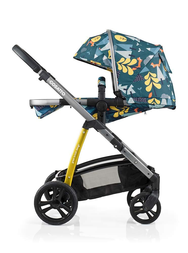 Cosatto Wow Pram and Pushchair, from Birth Carrycot and Pushchair Suitable upto 25 kg, Fox Tale Cosatto Backed by science, Cosatto prams are ideal for your baby; the patterns in Cosatto hoods are designed to stimulate your baby with bright, eye-catching colour and storytelling pattern Includes the from-birth carrycot (suitable for occasional overnight sleeping), then swap to pushchair unit, suitable up to 25 kg, with parent and world facing options and four recline positions Easy one-handed features, push-button carrycot removal, seat recline and calf support 4