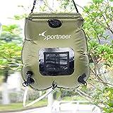 Sportneer Solardusche Campingdusche Duschsack, 20L mit abnehmbarem Schlauch und On-off Switchable Duschkopf