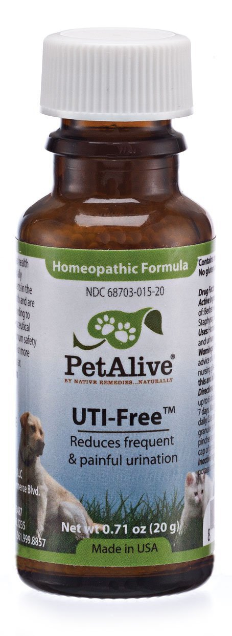 Native Remedies PUTI001 PetAlive UTI-Free for Bladder and Urinary Tract  Infections in Pets - 20g