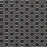 Fabulous Fabrics Strickjacquard Oktagramm - schwarz/Weiss -