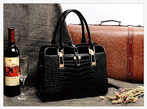 2017 neue Welle Paket Kuriertasche Damen weiblichen Beutel Handtaschen für Frauen Handtasche Schwarz