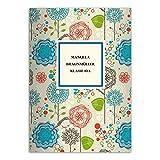 16 personalisierte, fröhliche Flower Power DIN A4 Schulhefte, Rechenhefte, bunt Lineatur 29 (kariertes/ rautiertes Heft)