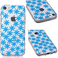 GrandEver TPU Cover per iPhone 5C, UltraSlim Trasparente Morbido Gel