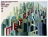 """Póster de la película """"Metrópolis"""" (69cm x 93cm) + 1 Póster con motivo de paraiso playero"""