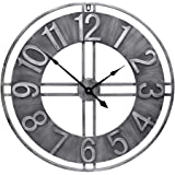YIDIE 30 inch Large Wall Clock Decorative Solid Metal Retro Decor for Home Farmhouse Living Room