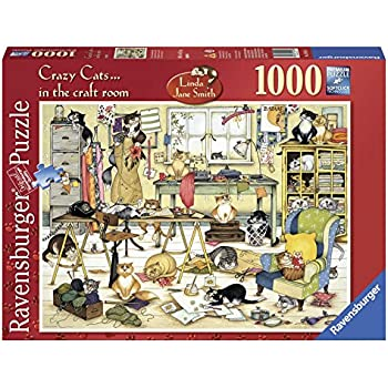 Ravensburger Crazy Cats - In the Craft Room, 1000pc Jigsaw Puzzle